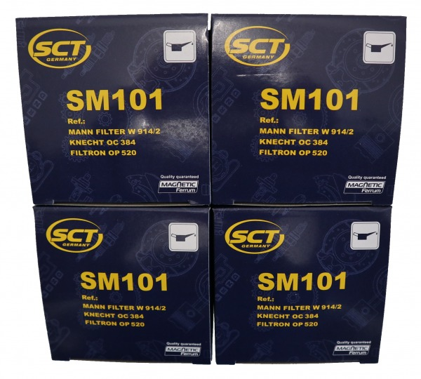 4x Ölfilter klein Paket